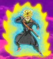 Time Patrol Trunks - Super Saiyan Rage by SD8bit
