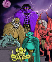 Gargoyles by TheMadArtist666