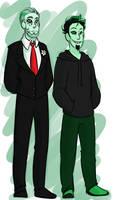 Gerome and Digit by GreenGhostlyJekyll