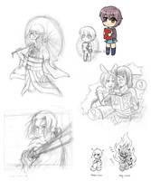 Doodle dump 1 by Kata-elf