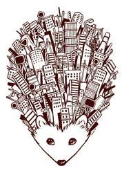Urban Hedgehog by Kata-elf