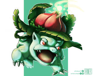 Ivysaur Solarbeam by Afroblue72