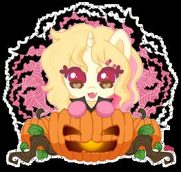 Nina the little Pumpkin Vampire! by FoxSmileArts
