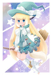 Lacie the glitter witch by FoxSmileArts