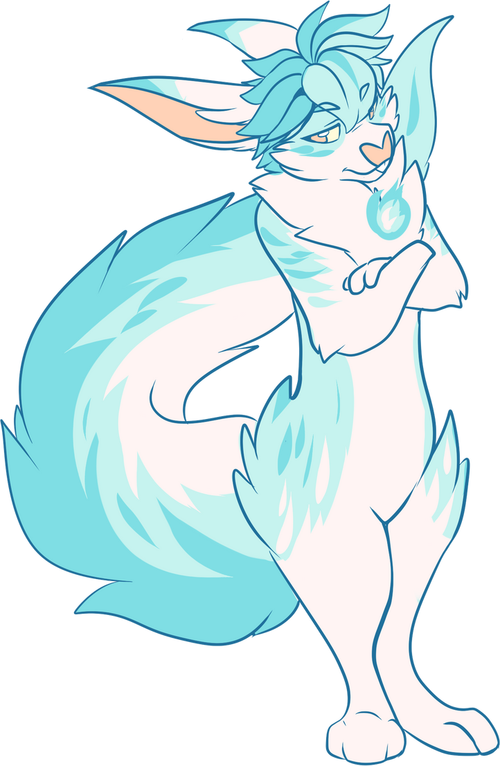 Shura - The Blue Flame by FoxSmileArts