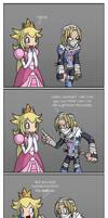 Peach and Sheik by SootToon