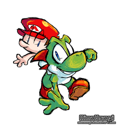 Yoshi and Baby Mario by U-l-t-r-o-s