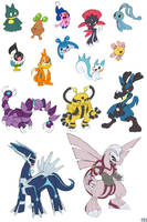 15 D-P Pokemon by U-l-t-r-o-s