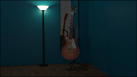 Les Paul Model Gibson Guitar by TallPaul3D