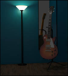 Les Paul Model Gibson Guitar 2 by TallPaul3D