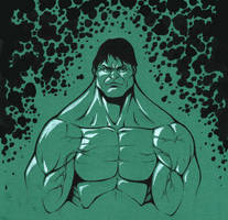 The Hulk - color paper sketch test by TravisTheGeek