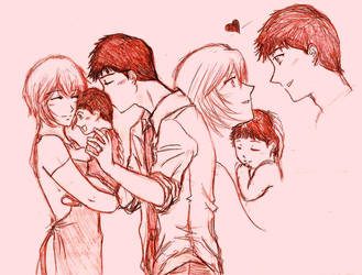 The Ikari Family... by Natysan