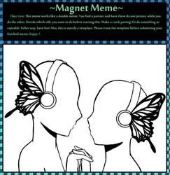 Magnet Double Meme DON'T TRACE by AnnaAelfara