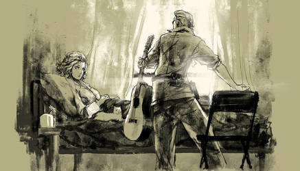 MGS Peace Walker : Paz and Kaz by Nazgullow