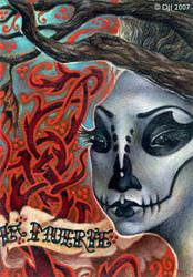 La Muerte - ACEO by sphinxmuse