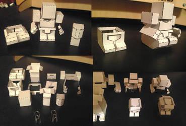 BattleRoller Paper Mini Prototype Assembled by wulongti
