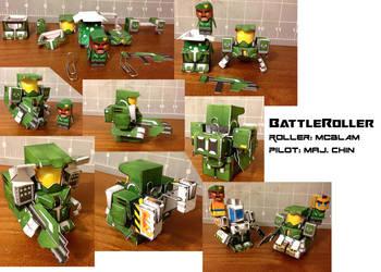 BattleRoller: McBLAM and Maj. Chin papercraft mini by wulongti