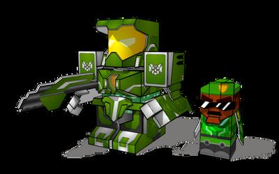 BattleRoller: McBLAM and Maj. Chin minis (sketchup by wulongti