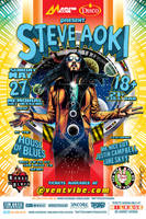 Steve Aoki House of Blues SD Poster Art by meltendo