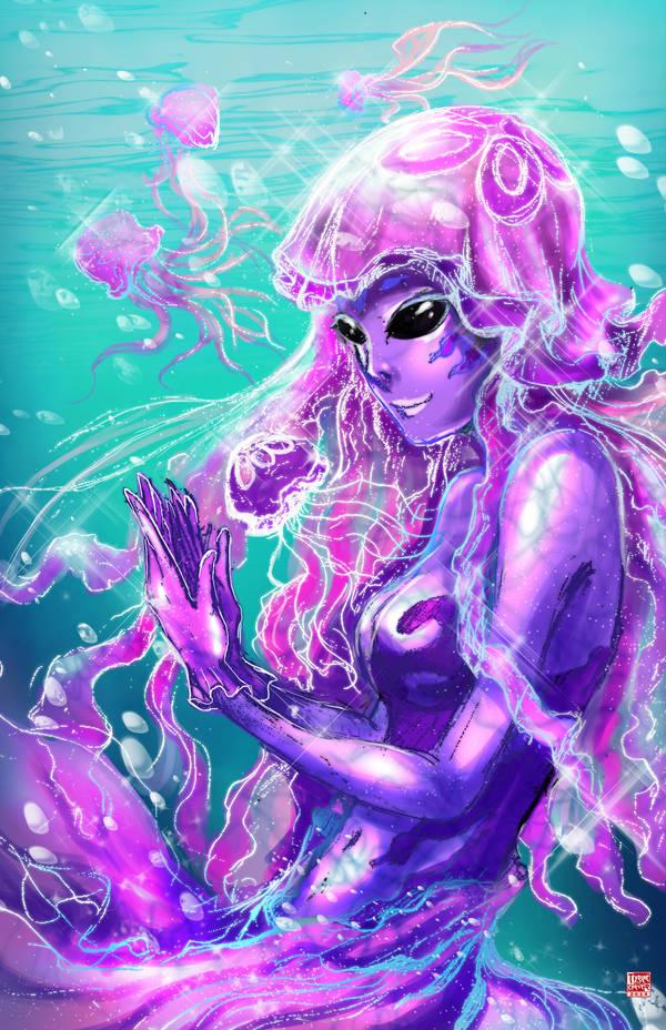 Jellyfish Mermaid by TyrineCarver