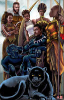 T'Challa Family Portrait by TyrineCarver