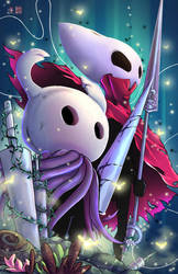 Hollow Knight and Hornet by TyrineCarver