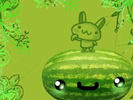 Happy Watermelon by mkirby712
