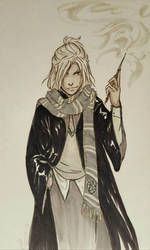 Inktober 4 - Spell by A6A7