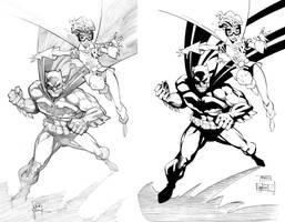 Batman and Robin by ernestj23