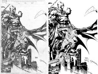 Spiderman and Batman by ernestj23