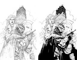 Mask of the Gargoyle INK by ernestj23