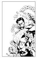 Superman Commission Ink by ernestj23
