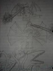Destroyah, Ghidorah, Biollante by GodzillaGuy92