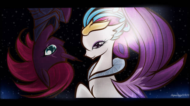 Mlp Tempest Shadow And Queen Novo By Aquaangel1010 On Deviantart