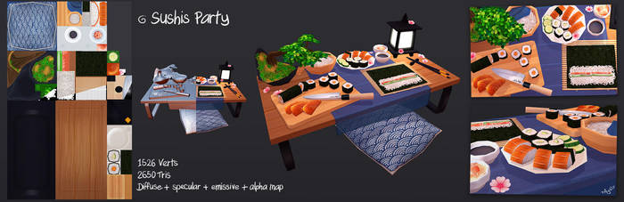 3D Sushis Party by Elo-Doudoune