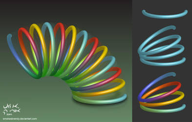 Colorful Spring Coil by SmokesBrandy
