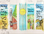 Watercolor Block Bookmarks 1 by KingNot