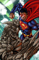 Superman VS Doomsday by RodVill