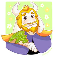 Undertale Rose Collection - Asgore by CubedCake