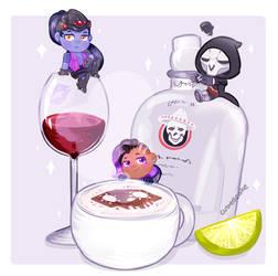 Overwatch Food Set - Talon's Beverages by CubedCake