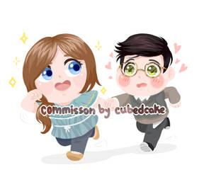 Commission: Lemon and Leon by CubedCake