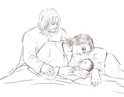 Thor and Loki's baby girl (request) by CyannFanArt