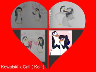 Kowalski x Cali heart collage by Strength2727