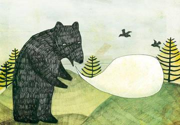 Un ours. by Polkadotdoll
