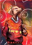 Doggie dog for Xmas by cybersuzy