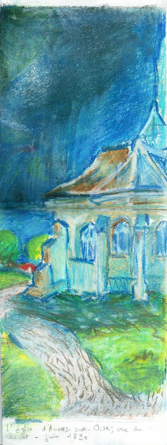 L eglise d Auvers sur Oise vue du chevet by cybersuzy