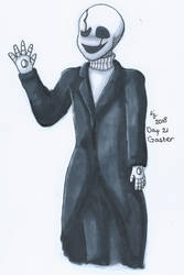 Day 21 - Gaster ~ Undertale drawing challenge by MissRoxanne123