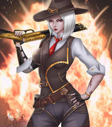 Ashe [Overwatch] by Hayes-irina