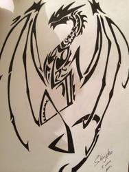 Tribal Dragon by Skypho98
