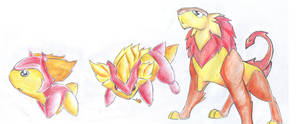 PKMN fire lions by kaseddy